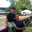 3rd generation Haunui Farm vendor Matthew Chitty with Darren Beadman