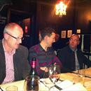 Andrew Seabrook (NZ Bloodstock), Ryan English and Simon Reid at Jervois St Steakhouse