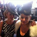 Clare and Vicki at the LEXUS Design Marquee...