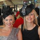 Clare and Jane Hawkes enjoying Oaks Day