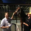 David Russo with his horse Inventive after a brilliant win at Canterbury