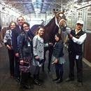 David Healey and family at the stables celebrating Stratford's third win in a row