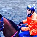 Dwayne Dunn back in the saddle... Will try and make a good track work rider out of him yet !!!