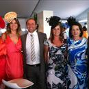 Enjoying the hospitality in the BMW marquee on Magic Millions raceday