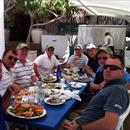 Hawkes Racing Tour Qld 2011 lunching at Sanctuary Cove