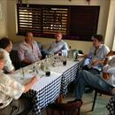 Hawkes Racing clients enjoying lunch with New Zealand Bloodstock's Richard Haynes