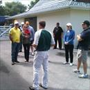 Kerry of Cambridge Stud talking to our group of clients