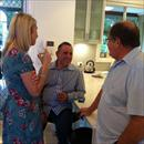 Afternoon at the Hawkes' - Jane Hawkes chats with Dom Sita and Tony Amadei