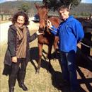 Jane and Chris with their outstanding weanling filly.. FR x Legally Bay