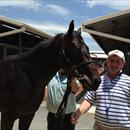 John with Lot 6 Lonhro x Girl In A Storm colt at Magic Millions sales