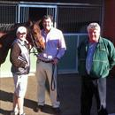 John, Eddy Rigg and Ron Sayers at Flemington with Eastward after her debut win