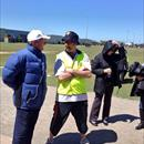 John @ Lachie's school sports day with his teacher Mr. Norman!