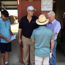 John with Eric, Ned and Mr B. Wayne Hughes of @spendthriftfarm discussing the yearlings @mmsnippets sales