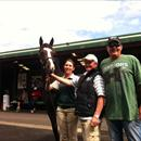 Karaka Sales 2012 ... John with Greg Ingham and his new filly Lot 147 Zabeel x Danelish