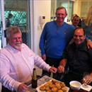 Afternoon at the Hawkes' - John with John Cornish (ATC Chairman) and Michael Crismale (ATC Vice Chairman)