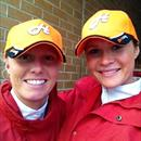 Kelly and Brooke show off their Hawkes Racing caps