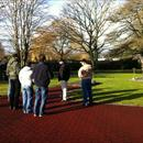 Kerry from Cambridge Stud talking to the Hawkes Racing Tour about the history of the farm
