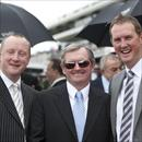 Wayne, John and Michael excited after winning the LEXUS Stakes