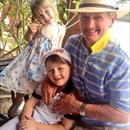 Matilda and Lachlan happy to be at Magic Millions yearling sales with their Grandpa