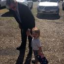 Matilda with her Grandfather on Australia Day