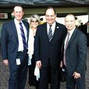 Michael at Rosehill races with Gail and Michael Crismale (ATC Vice Chairman) and Chris So (HK Assistant Trainer).