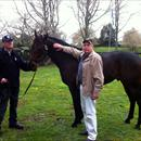 Russell Collins with Melbourne Cup Winner Shocking