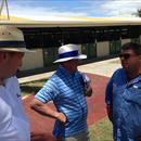 Wayne and John talking to Ron Gilbert (Highgrove Stud) at Magic Millions Yearling Sales