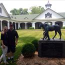 Wayne and Jane enjoying the time in Kentucky @spendthriftfarm