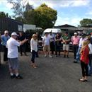 Wayne talking to the group at Cambridge Stud
