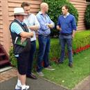 Yearling inspections at the Sydney Easter Sales with Campbell Duncan, Ben Ingham and Andy Williams